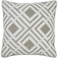 Pillows - URB Edo Grey Pillow I High Fashion Home - gray pillow, geometric pillow, geometric gray pillow,