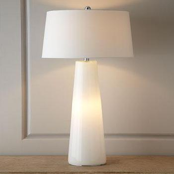 Lighting - White Nightlight Lamp I Horchow - white lamp, white nightlight lamp, modern white lamp,