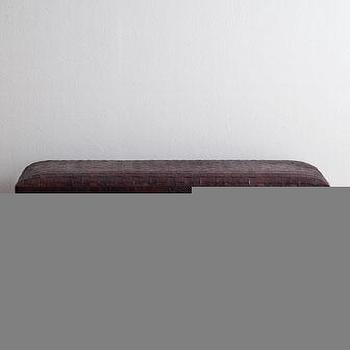 Seating - Maxwell Leather Bench I Horchow - woven leather bench, contemporary leather bench, woven leather bench with metal base,