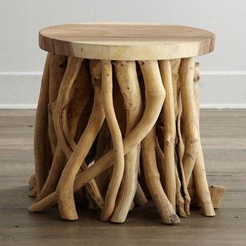 Tables - Twisted Root Side Table I Horchow - twisted root side table, branch side table, root side table, reclaimed side table,