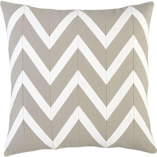 "Chevron Off-White 18"" Pillow I Crate and Barrel"