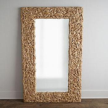 Pottery barn oversized leaning floor mirror