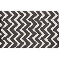 Rugs - Chevron Outdoor Rug | Crate and Barrel - outdoor black and white rug, chevron outdoor rug, charcoal chevron outdoor rug,