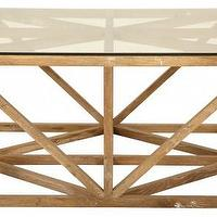 Tables - Botero Coffee Table | Jayson Home - american oak coffee table, contemporary oak coffee table, wood base coffee table with glass top,