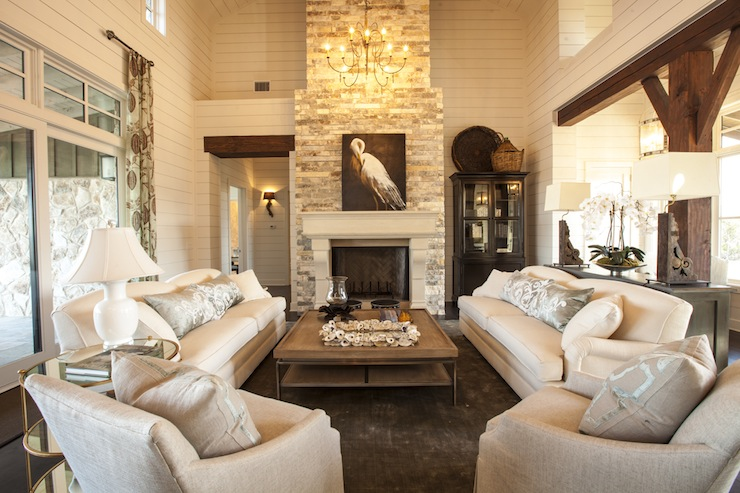 2 Story Living Room Cottage Living Room Southern Living