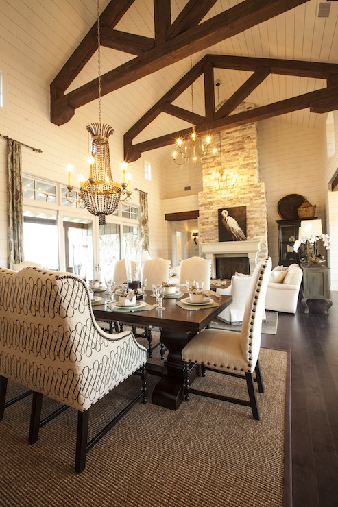 Exposed Beams Cottage Dining Room Southern Living