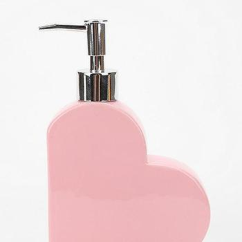 Bath - Heart Soap Dispenser - Urban Outfitters - pink heart soap dispenser, heart shaped soap dispenser, heart soap dispenser,