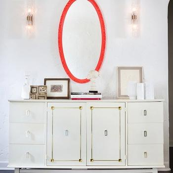 White Credenza, Hollywood Regency, entrance/foyer, House of Honey