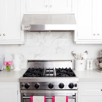 Kitchen with Pink Accents, Transitional, kitchen, Caitlin Wilson Design
