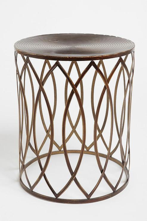 Concentric Metal Side Table Urban Outfitters