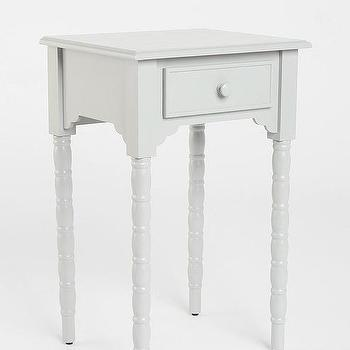 Tables - Spool Side Table - Urban Outfitters - gray spool side table, gray spool nightstand, gray side table, gray nightstand,