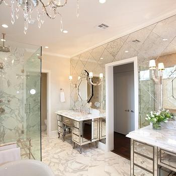 Mirrored Vanities, Traditional, bathroom, Laura U Interior Design