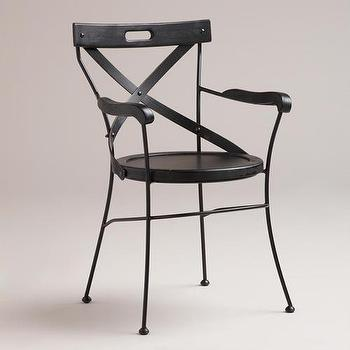 Black Campaign Chair, World Market
