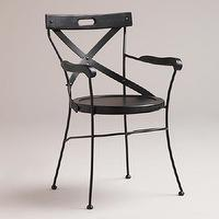 Seating - Black Campaign Chair | World Market - campaign chair, black campaign chair, black x-back chair,