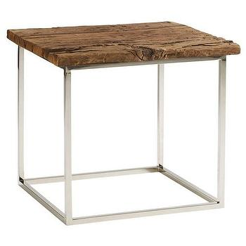 Tables - Brownstone Furniture Verona End Table - vintage tablesn raw woodm natural woods, hamptons