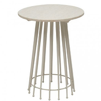 Tables - Hudson Yards Rock White Marble Side Table - vintage modern tables