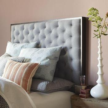 Beds/Headboards - Tilden Headboard | west elm - gray tufted headboard, gray diamond tufted headboard, tufted headboard,