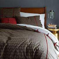 Bedding - Rivulet Stripe Duvet Cover + Shams | west elm - brown patterned bedding, brown and red bedding, slate colored bedding, indian weave bedding, indian patterned bedding,