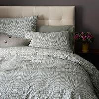 Bedding - Organic Seedling Duvet Cover + Shams | west elm - gray green bedding, gray green patterned bedding, organic bedding, organic cotton bedding, patterned organic bedding,