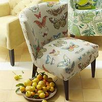 Seating - Veronica Taper Leg Chair - Prints | west elm - butterfly patterned chair, butterfly print chair, upholstered chair with butterfly patterned fabric,