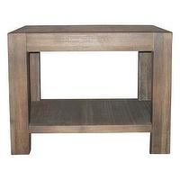 Tables - Reclaimed Grey End Table | Overstock.com - reclaimed wood end table, reclaimed gray wood end table, reclaimed modern end table,