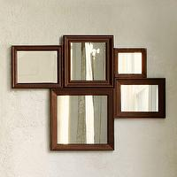 Mirrors - Multi-Moldings Wall Mirror | west elm - multi-moldings wall mirror, muliple paned mirror, multiple framed mirror, framed mirror grouping, framed mirror collection,