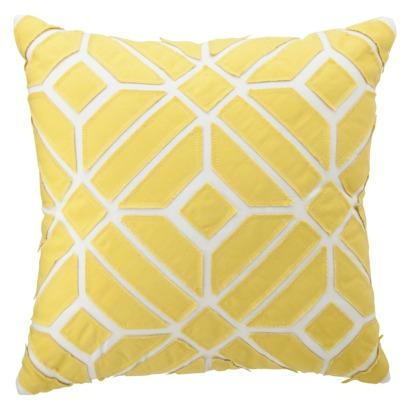 Target Throw Pillow Yellow : Nate Berkus for Target Yellow Geometric Pillow - Target