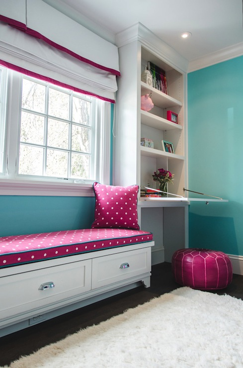 Pink And Turquoise Girl S Room Transitional Girl S