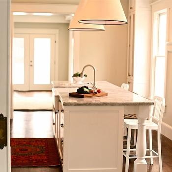 Super White Quartzite Countertops, Transitional, kitchen, Benjamin Moore Halo, White & Gold Design
