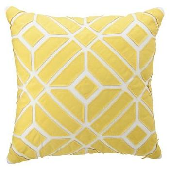 Pillows - Nate Berkus for Target Yellow Geometric Pillow - Target - yellow and white pillow, yellow and white geometric pillow, yellow geometric applique pillow,