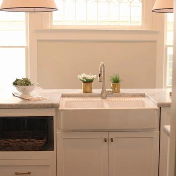 Goodman Hanging Lamps, Transitional, kitchen, Benjamin Moore Halo, White & Gold Design