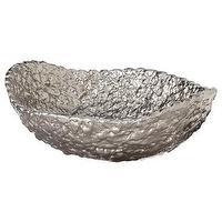 Decor/Accessories - Nate Berkus for Target Pebbled Moray Bowl - Target - silver bowl, decorative silver bowl, pebbled silver bowl,