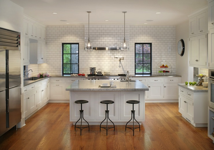 U Shaped Kitchen Design Transitional