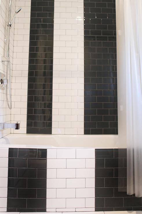 Black And White Subway Tile Contemporary Bathroom Brooke Jones