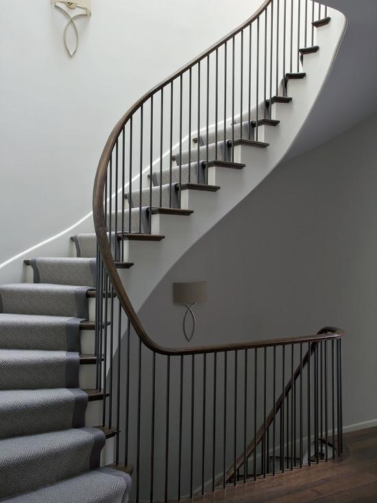 Winding Staircase Contemporary Entrancefoyer