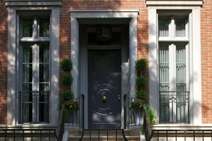 Chicago row house traditional home exterior for Row house exterior design ideas