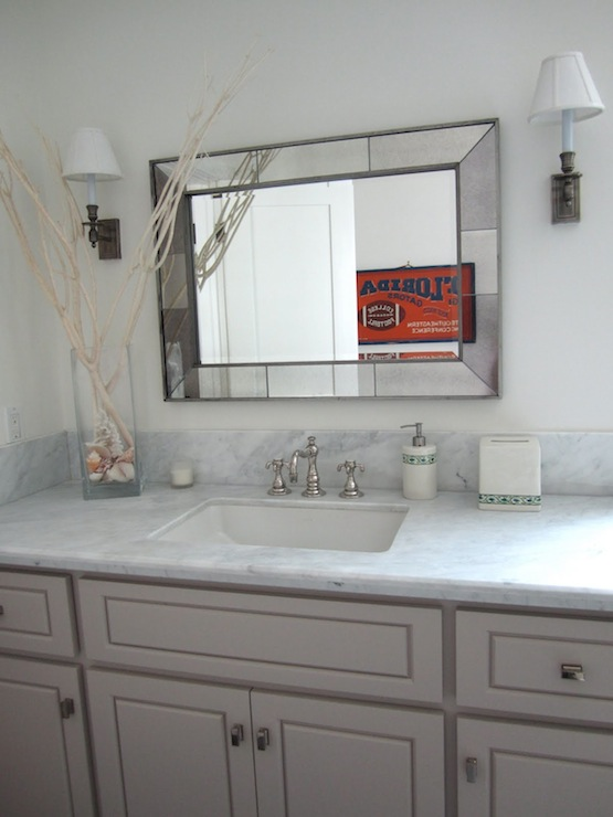 Beveled mirror traditional bathroom classic casual home for Casual bathroom ideas
