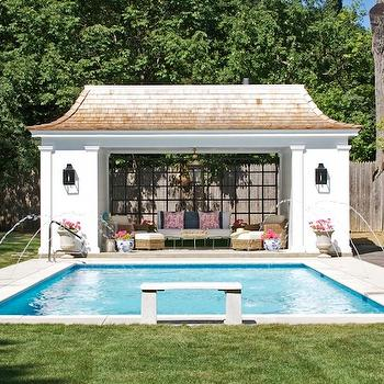 Northworks Architects - pools - in ground pool, spray pool, spray in ground pool, pool house, wicker furniture, pool house furniture, seagrass furniture,