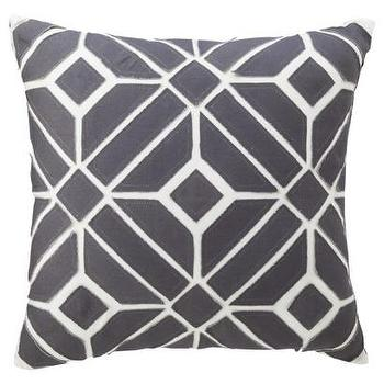 Nate Berkus for Target Gray Geometric Applique Pillow, Target