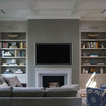 ... grasscloth, gray grasscloth wallpaper, sectional, sectional sofa, gray