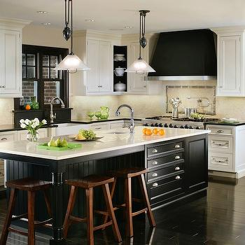Black and White Kitchen Design, Transitional, kitchen, Canterbury Design