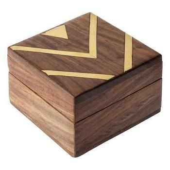 Decor/Accessories - Nate Berkus for Target Chevron Storage Box - Target - trinket box, gold chevron box, wood box with chevron pattern,