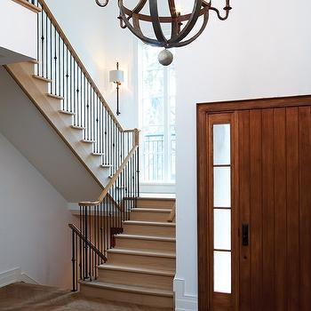 Herringbone Wood Floor, Traditional, entrance/foyer, House & Home