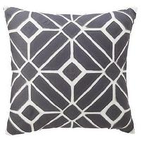 Pillows - Nate Berkus for Target Gray Geometric Applique Pillow - Target - gray geometric pillow, gray pillow, gray and white pillow, gray geometric applique pillow,