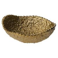Decor/Accessories - Nate Berkus for Target Pebbled Bowl - Target - brass colored bowl, ceramic bowl with brass finish, pebbled bowl with brass colored finish, brass colored bowl,