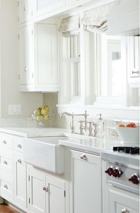 Gray Subway Tile, Transitional, kitchen, Benjamin Moore Edgecomb Gray