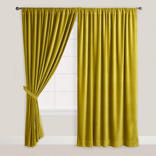 Green Velvet Oasis Curtain World Market