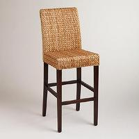 Seating - Elana Barstools, Set of 2 | World Market - woven barstools, banana leaf barstools, woven banana leaf barstools,