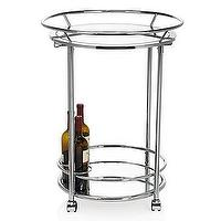 Tables - Manhattan Bar Cart | Z Gallerie - modern chrome bar cart, chrome bar cart, chrome bar cart with mirrored shelves, round chrome bar cart,