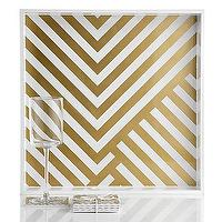 Decor/Accessories - Chevron Tray And Coasters | Z Gallerie - gold chevron tray, gold chevron coasters, modern chevron tray, gold and white serving tray,